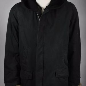 RICK OWENS Slab Vintage MRH6001 Wax Coated Hooded
